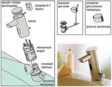 Схема электронного смесителя.