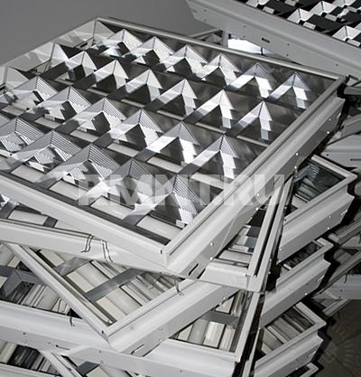 Укладка плитки и светильников на конструкцию