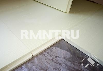 Укладка полипропиленовых плит на пол