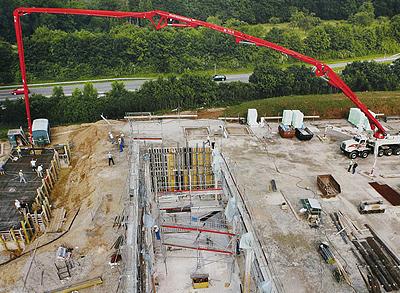 Порядок работы с бетононасосом