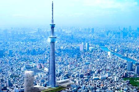 Телебашню в мире построили в токио