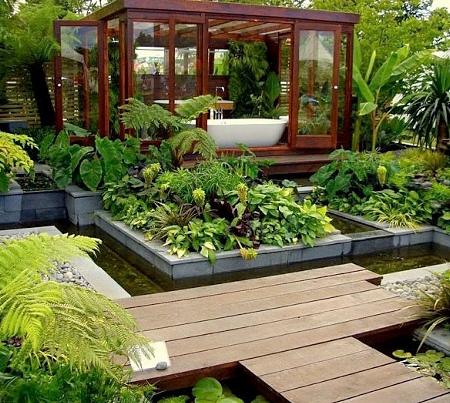 Роскошный японский сад