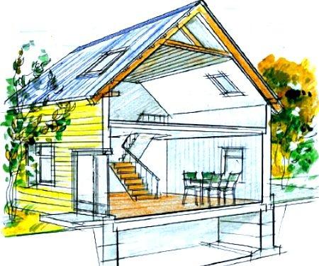 Стропильные системы мансардных крыш могут быть двускатными щипцовыми, двускатными полувальмовыми, шатровыми...
