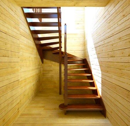 Строим лестницу своими руками на даче фото