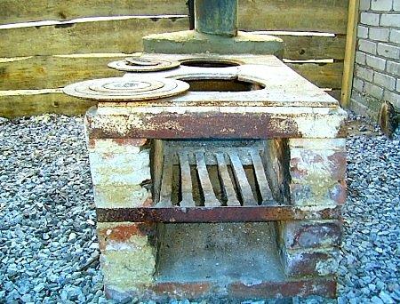 Печка с мангалом для дачи своими руками фото