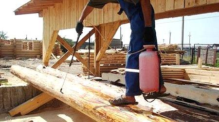 Защиты древесины от гниения