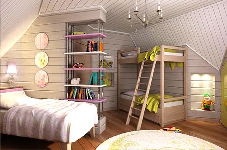 покрасить детскую комнату из дерева.  Внутри деревянных домов можно создать отличную атмосферу благодаря правильной...