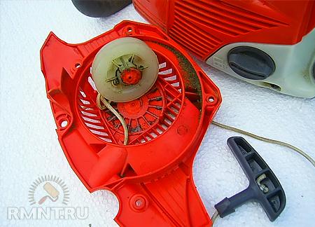Ремонт стартера бензопилы олео мак