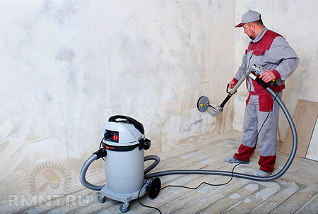 Машинка для шлифовки шпаклевки стен