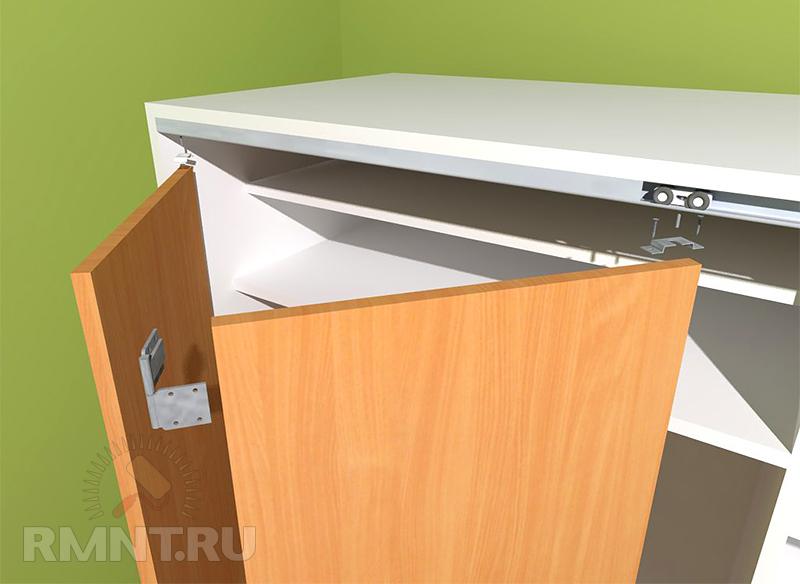 Раздвижные двери для кухонного шкафа своими руками