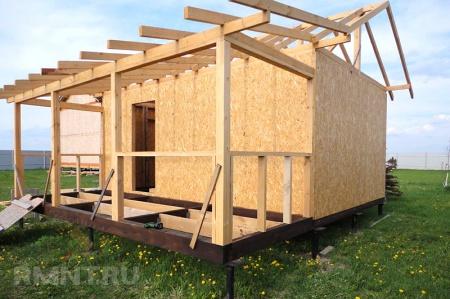 Как быстро и экономно построить баню. Технология каркасного строительства