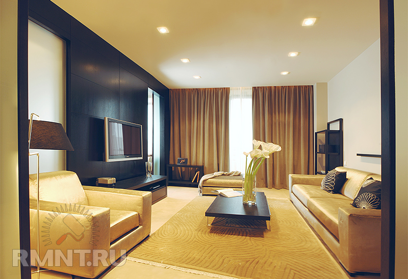 Дизайн комнаты при низких потолках