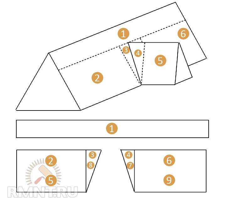 Как сделать бумажную крышу своими руками 86