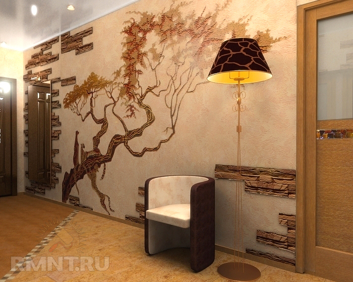 Оформление стены в коридоре квартиры так надеялся