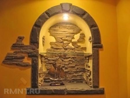 Декоративный камень в этническом интерьере