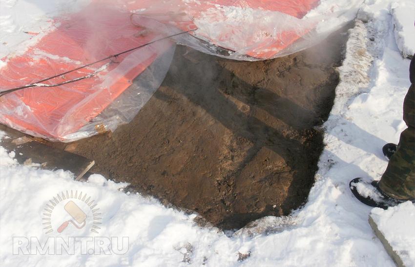 Заливка бетона зимой своими руками 77