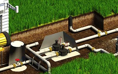 На этом этапе нужно начертить схему участка, разделив орошаемый газон и объекты, которые поливать не следует.