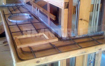 Декоративная столешница своими руками столешница из бетона состав смеси