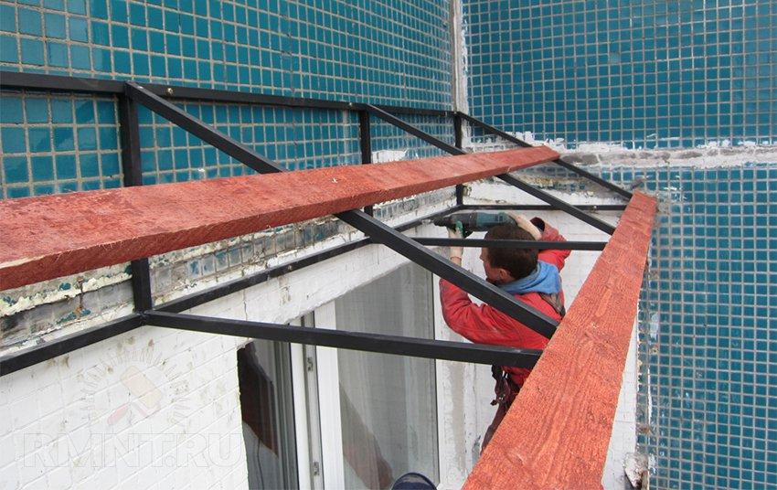 Как сделать стекло на балконе 80
