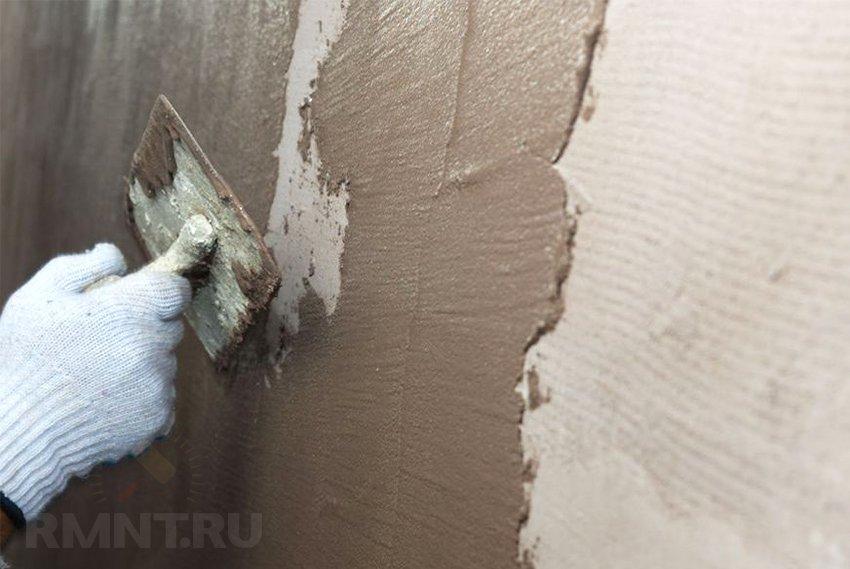 Шпаклевка стены под обои