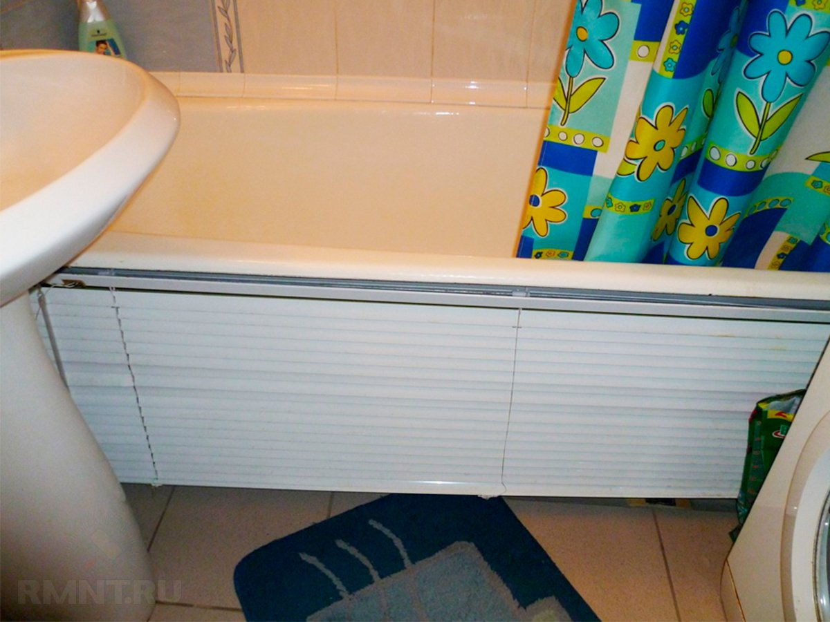 Варианты обустройства пространства под ванной
