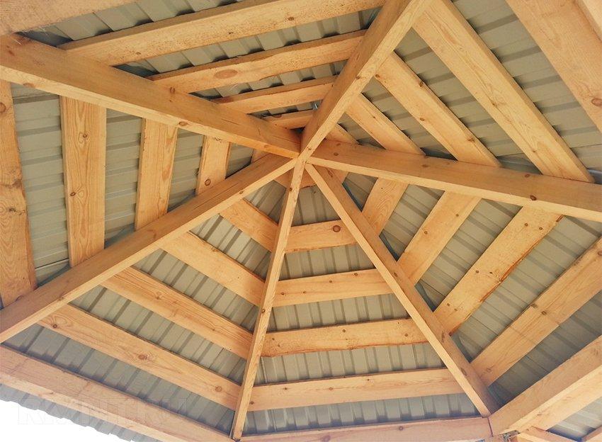 Сделать крышу на шестиугольную беседку