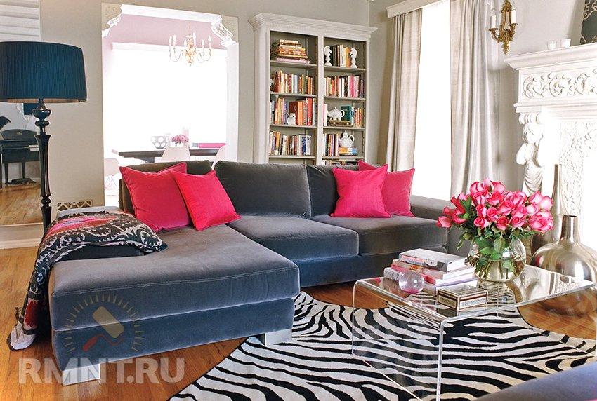 ковер зебра в интерьере фото