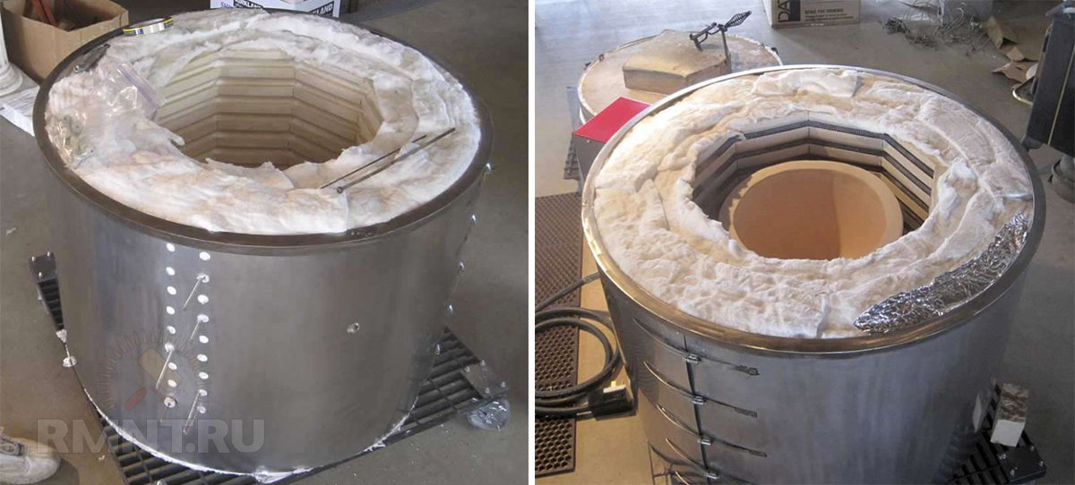 Теплоизоляция муфельной печи