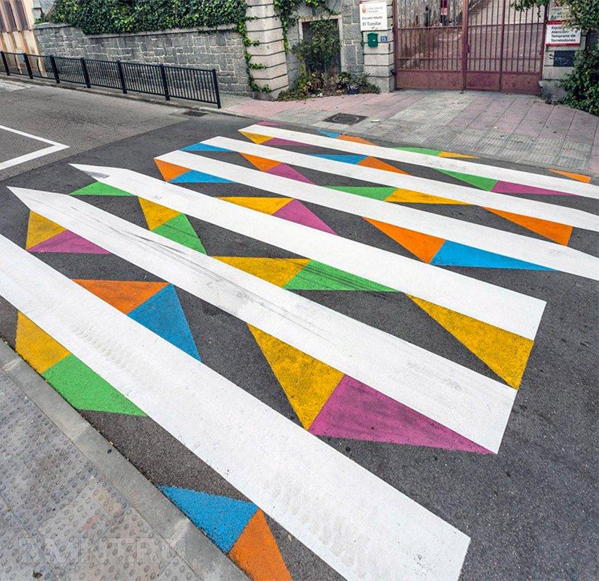 Разукрашенный пешеходный переход