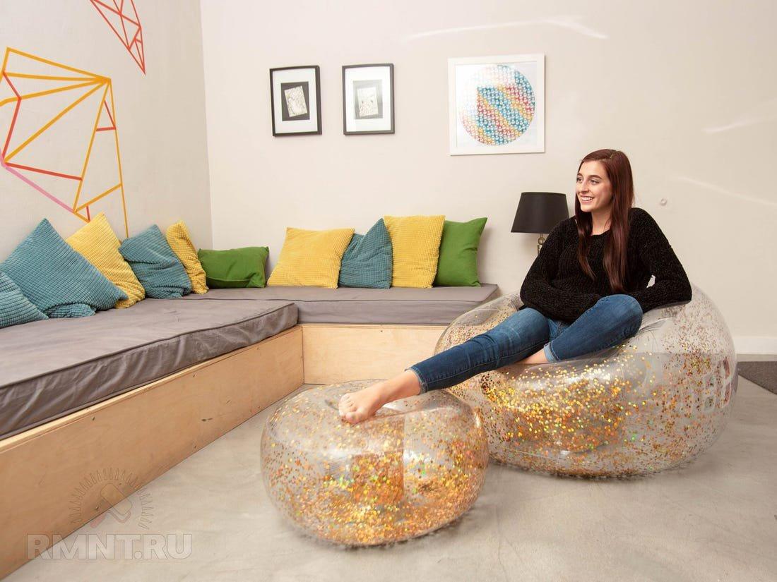 Преимущества и недостатки надувной мебели