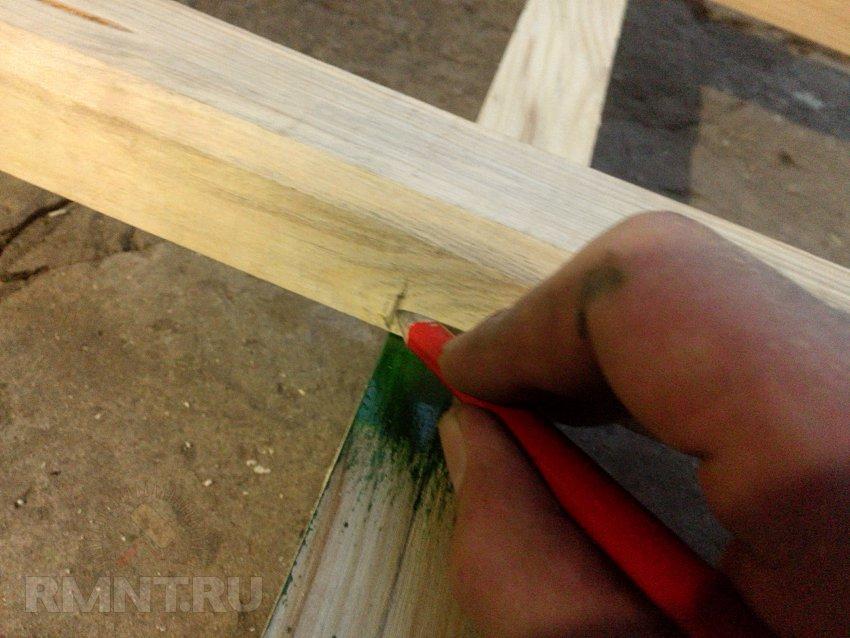 Деревянная лестница для дачи своими руками