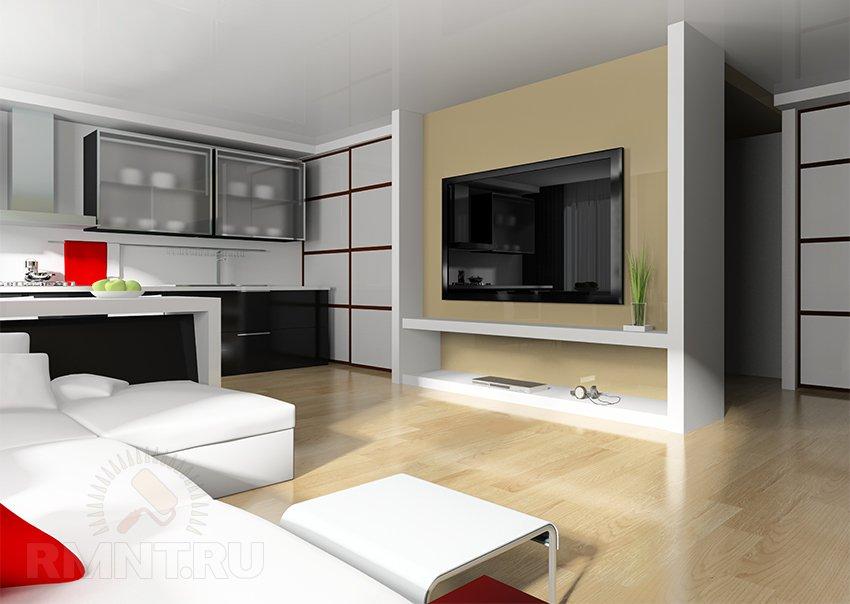 Обустройство однокомнатной квартиры с кроватью