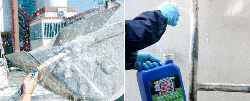 Растворители для бетона: как очистить поверхность от застывшего раствора