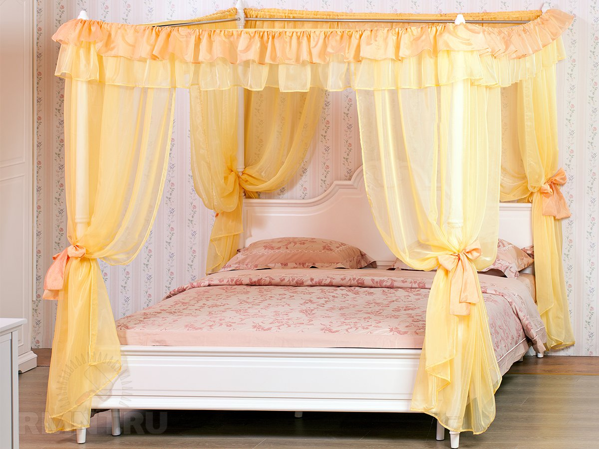 Как самому сделать двуспальную кровать с балдахином