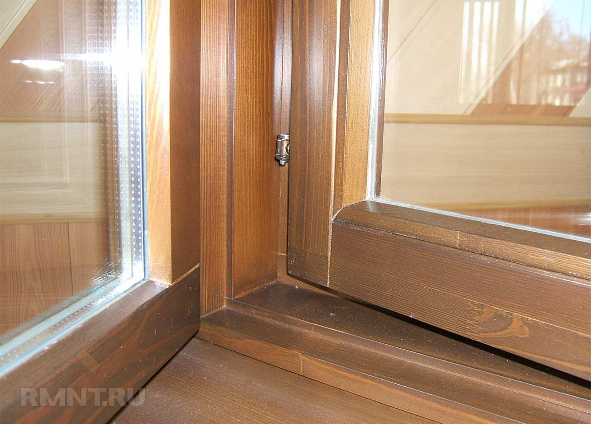 Деревянное окно по финской технологии