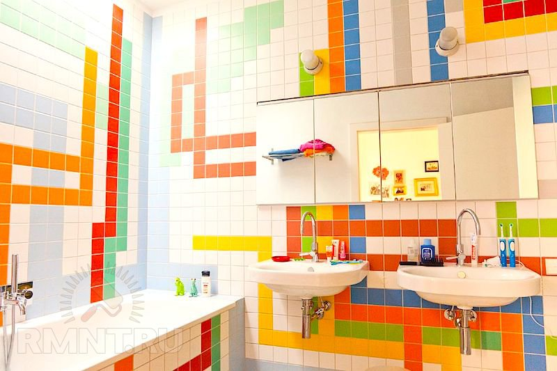 Идеи раскладки плитки в ванной фото