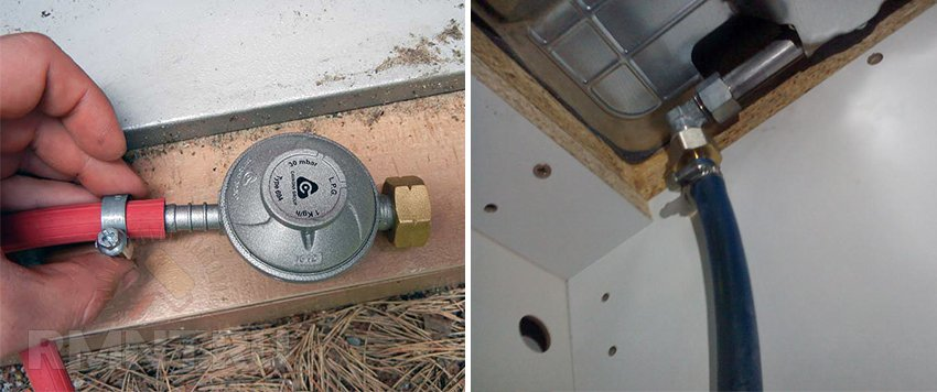 Подключение газовой плиты через резиновый шланг