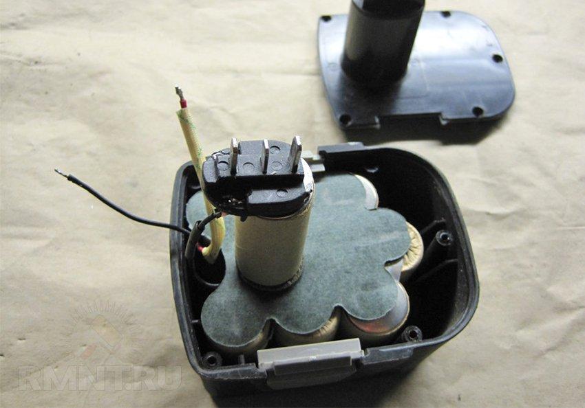 Разборка аккумулятора шуруповерта