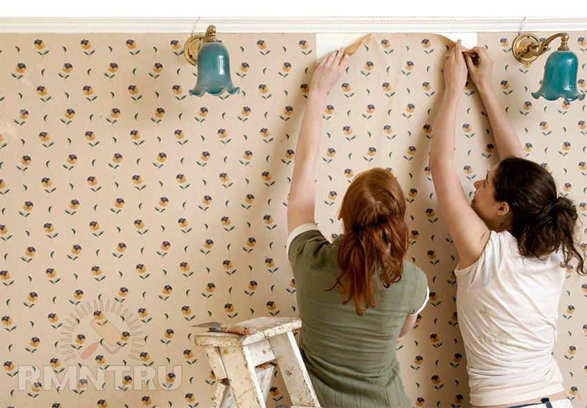 Оклейка обоями стен своими руками
