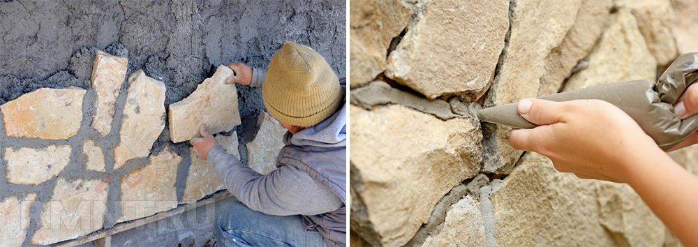Отделка цоколя камнем своими руками