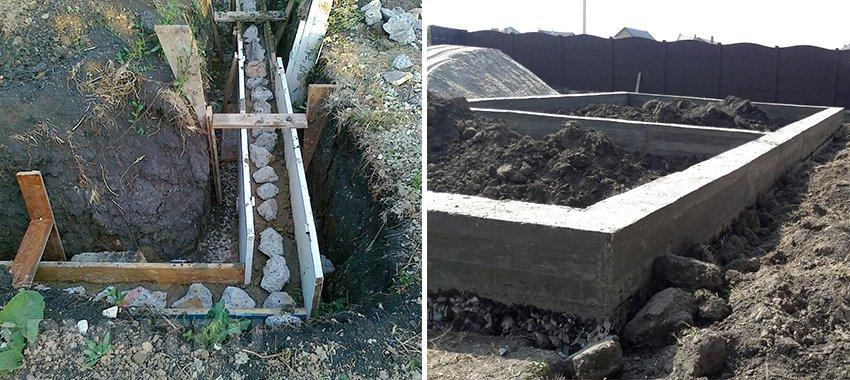Строительство фундамента из бутового камня
