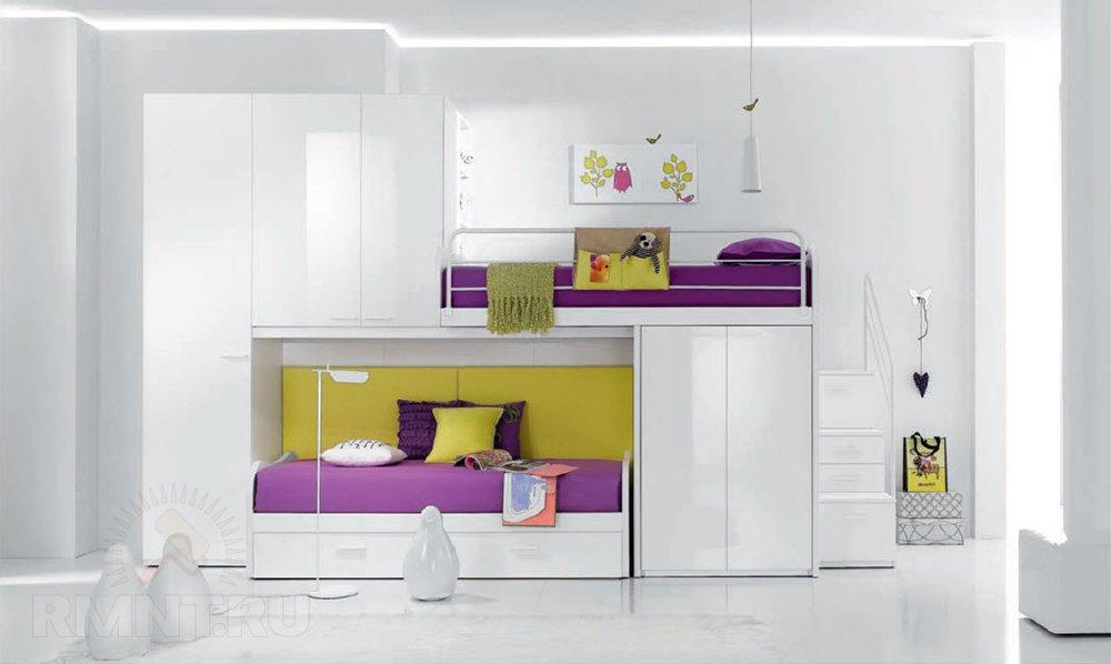 Удачное решение для, как многие думают, детской — двуэтажная также кровать