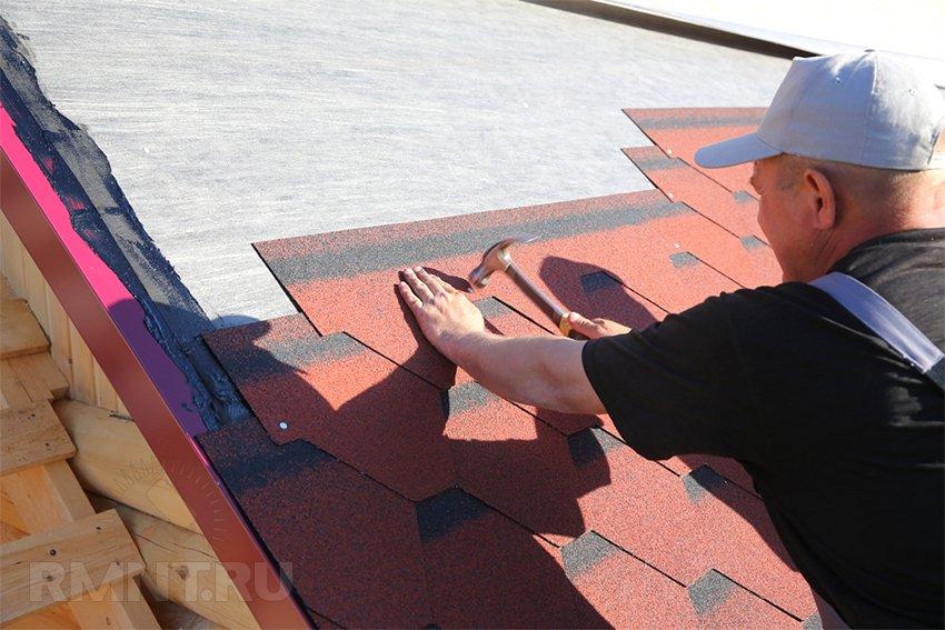 Как укладывать гибкую черепицу на крышу
