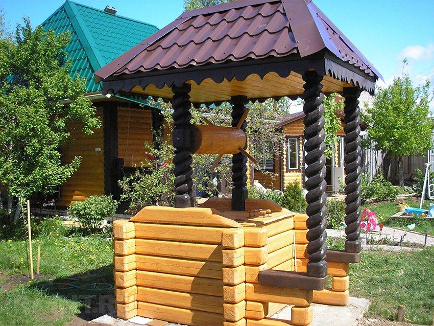 Дизайн колодца на даче своими руками фото 35