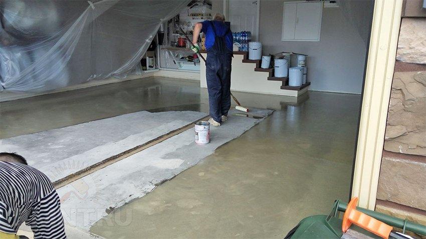 Гидроизоляция пол для гаража полиурет наливные полы в белгороде цена фото