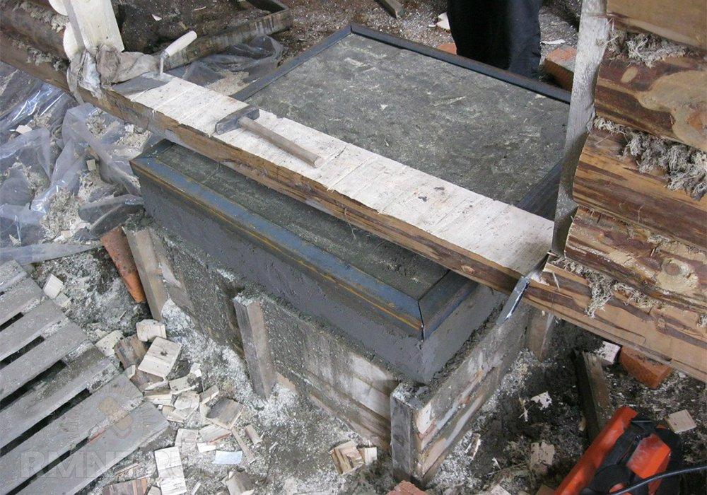 Фундамент для банной печи