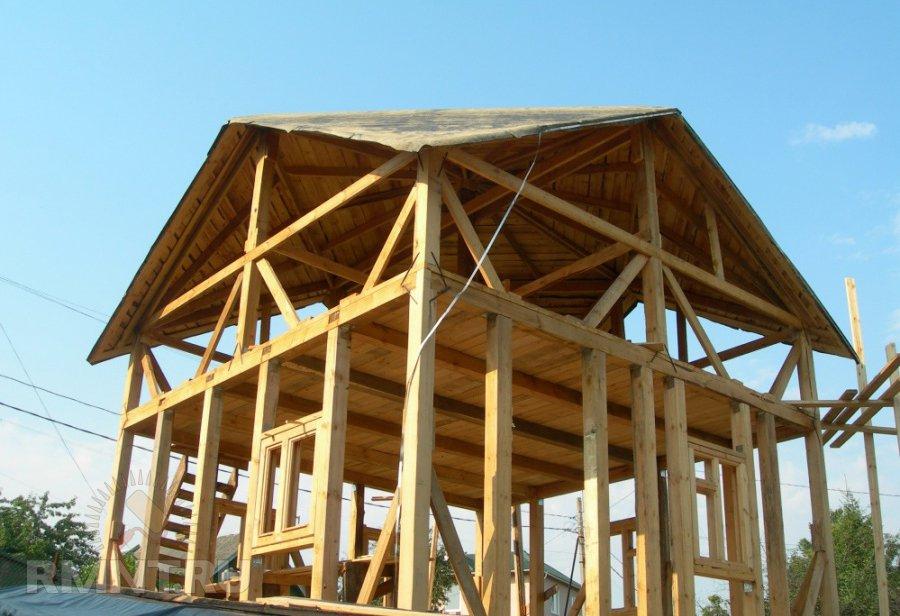 Каркасный дом с крышй Судейкина