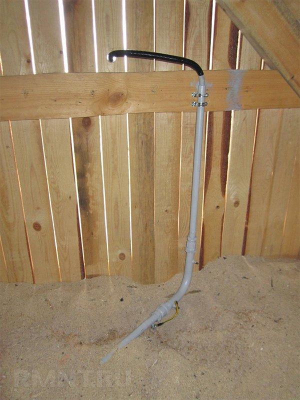 Прокладка вводного кабеля по чердаку