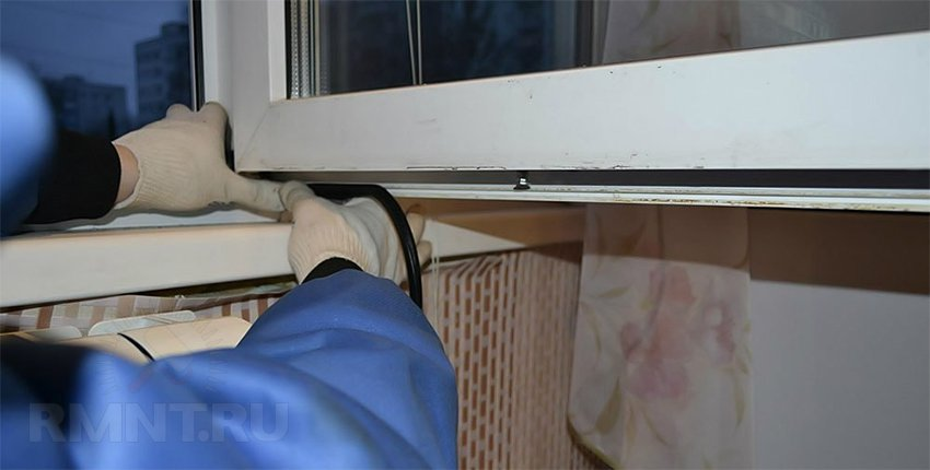 Замена уплотнителя на пластиковом окне