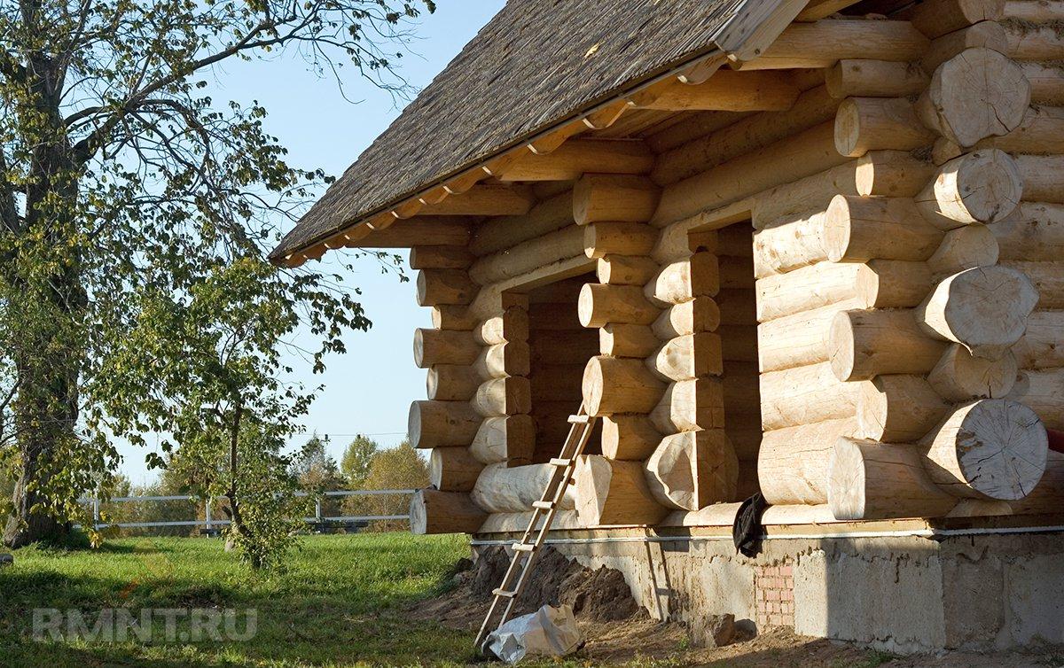 Строительство бани из бревна своими руками пошаговая инструкция